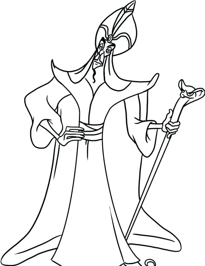 700x906 Complete Jafar Coloring Pages Print And The Magic Lamp Colouring