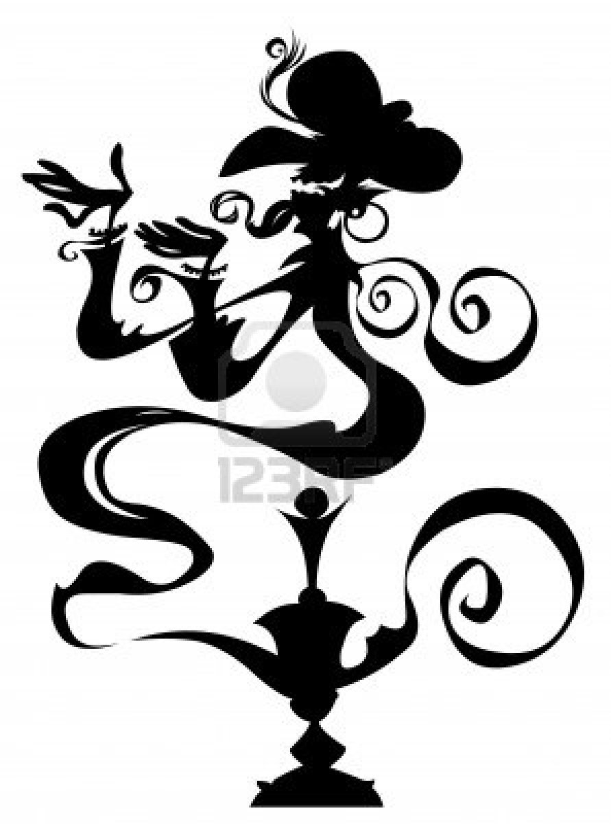 891x1200 Genie In A Lamp Silhouette Drawing Cool And Inspirational