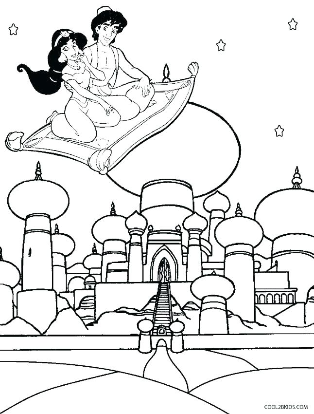 646x850 Jasmine Coloring Coloring Pages As And Jasmine Coloring Magic Lamp