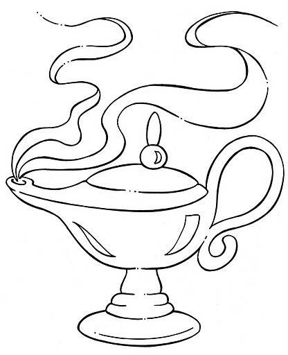 416x512 Magic Lamp Coloring Pages Aladdin Magic Lamp Coloring Pages