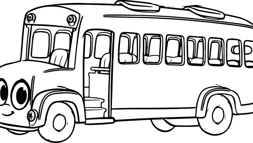 960x544 School Bus Coloring Page School Bus Coloring Sheet Free Get This
