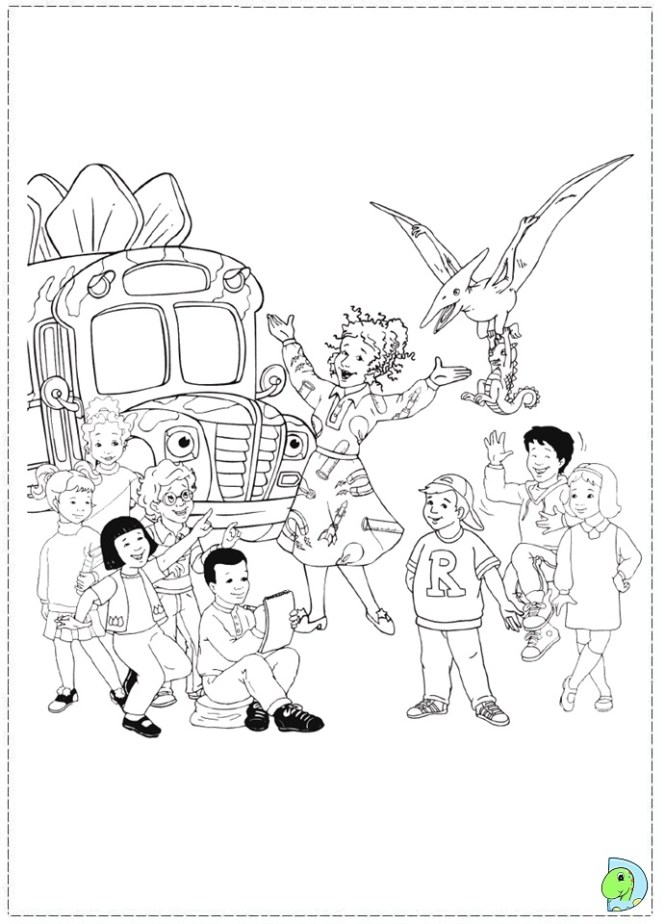 665x924 The Magic School Bus Coloring Pages