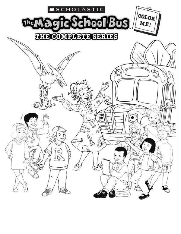 600x776 Wonderful Magic School Bus Coloring Pages 75 About Remodel Line