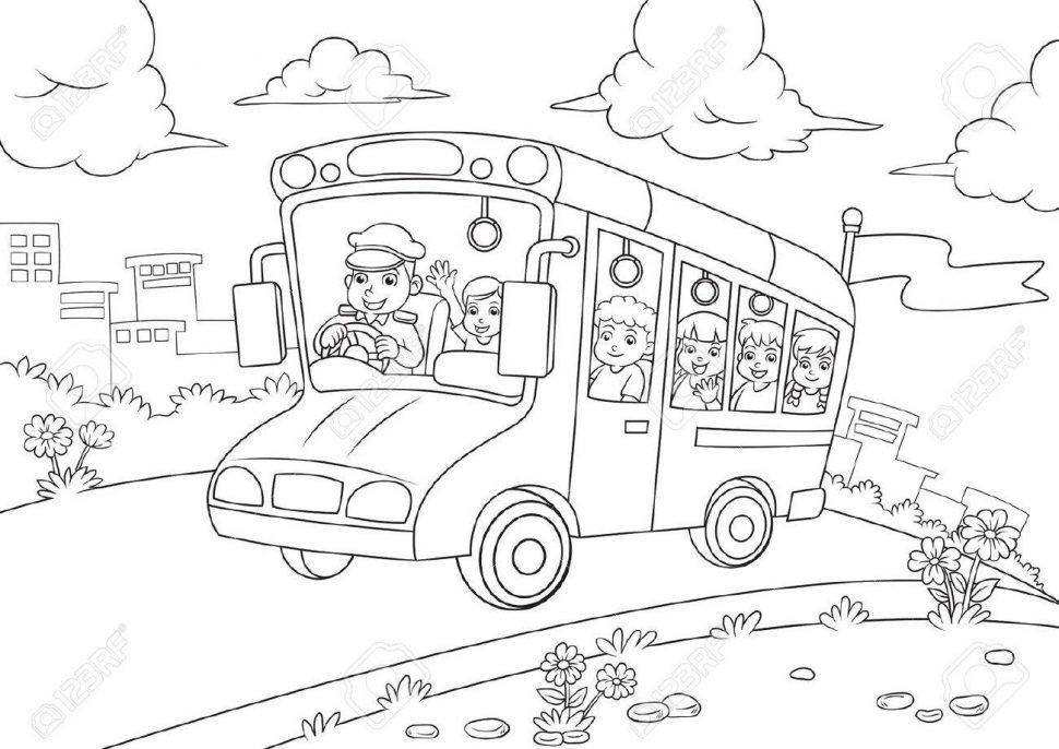 970x686 Coloring 99 School Bus Coloring Book Picture Ideas School Bus
