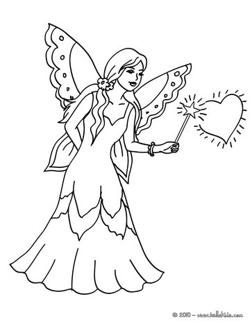 363x470 Fairy Magic Wand Coloring Pages