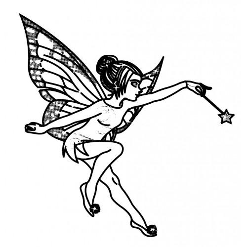 500x500 Fairy With Magic Wand (2.5 X 2.5)