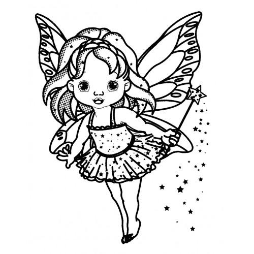500x500 Little Fairy With Magic Wand (2.5 X 3.5)