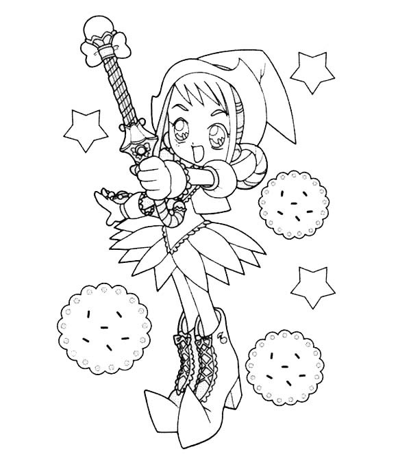 600x685 Magical Doremi Magic Wand Coloring Pages Batch Coloring