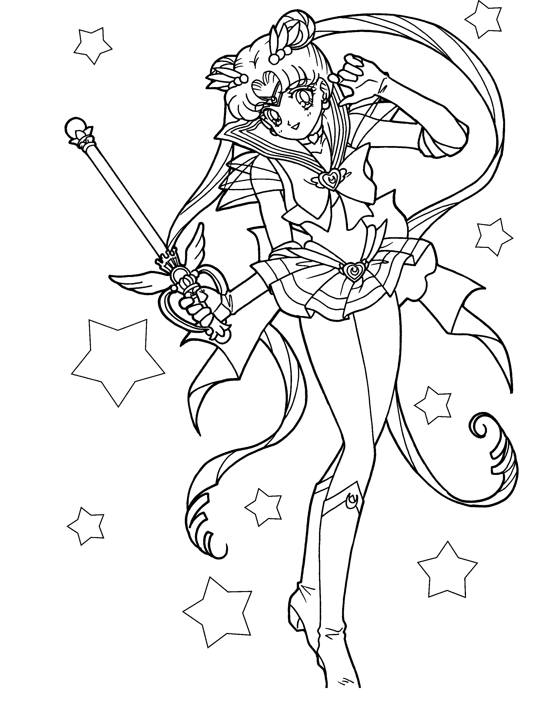 2300x2962 Sailor Moon Carries A Magic Wand Coloring Pages Sailor Moon