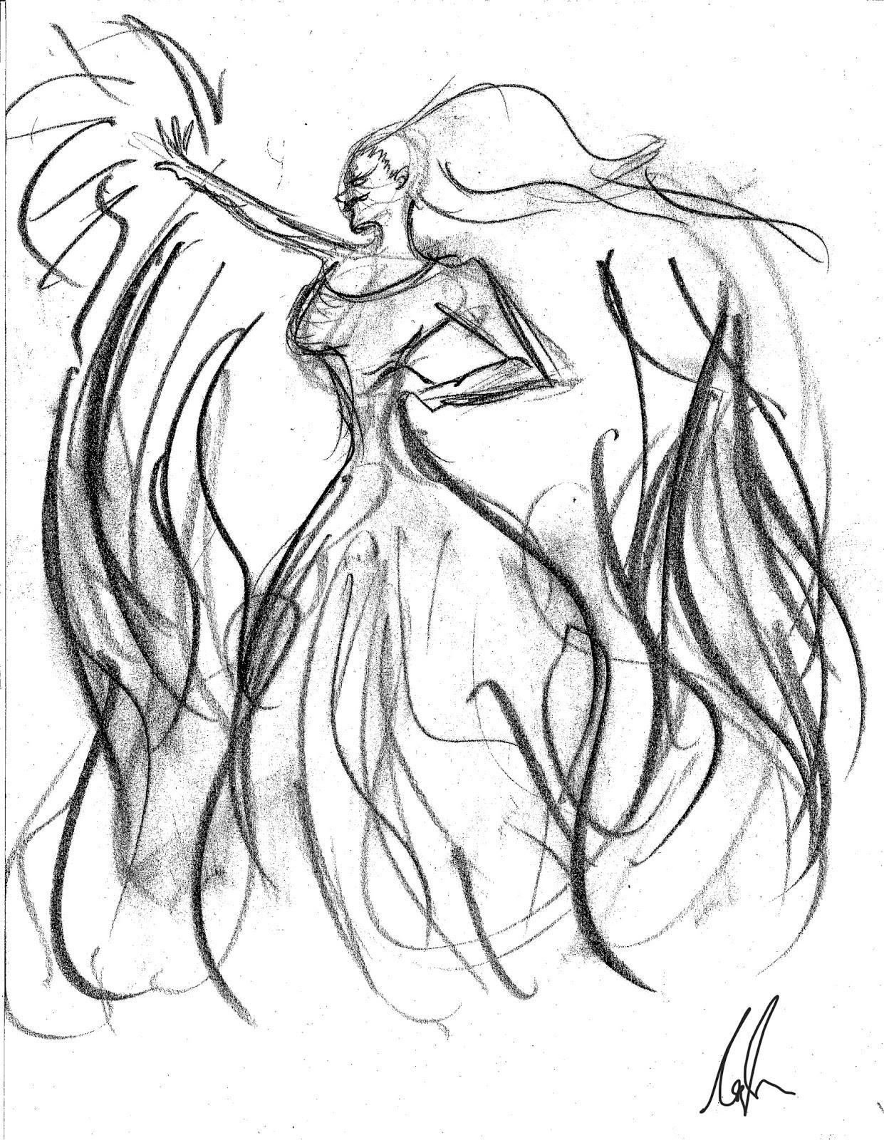 1241x1600 Greg Jones Jr.'s Sketchbook Dynamic Characterization Magical Dress