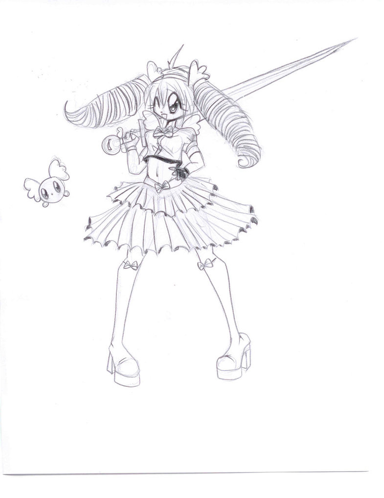 785x1017 Magical Girl Drawing Dress Images