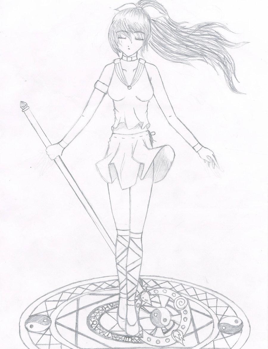 900x1172 Magical Girl By Sakura Flower Girl