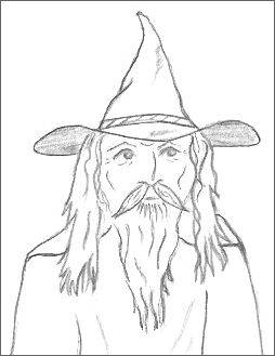254x329 Magical Wizard Drawings