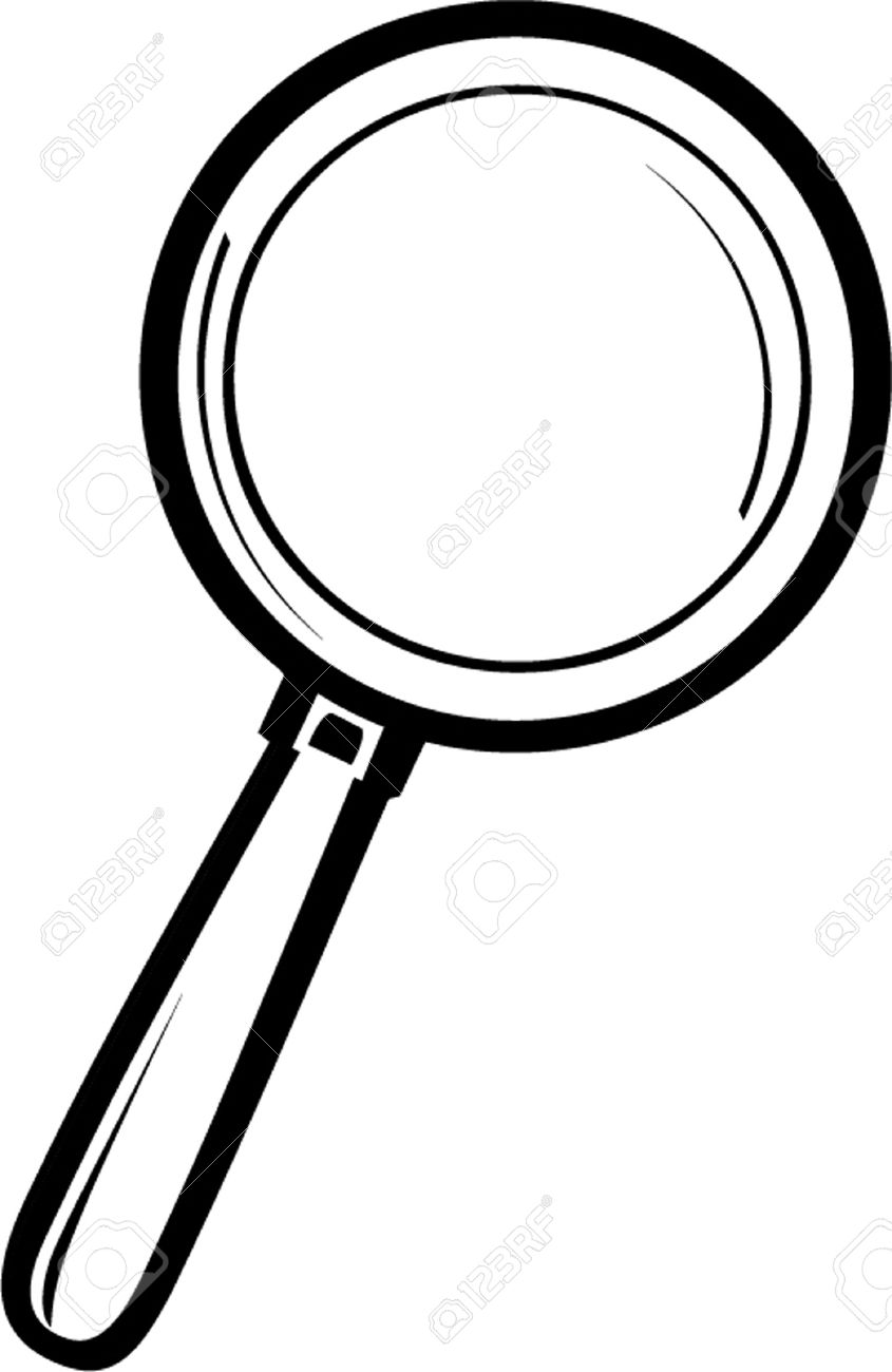 845x1300 Magnifying Glass Outline Royalty Free Cliparts, Vectors, And Stock