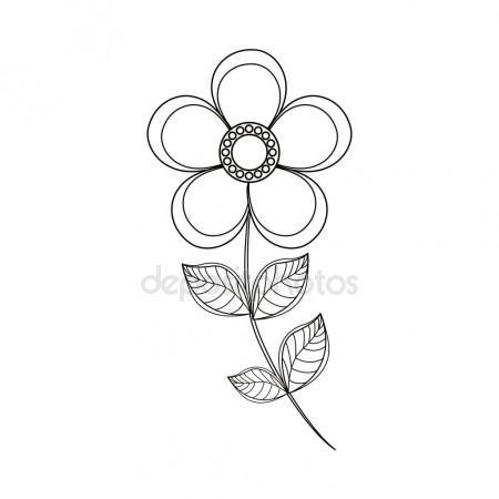 450x450 Magnolia Flower Sketch Vol.2 Stock Vector Julija Grozyan