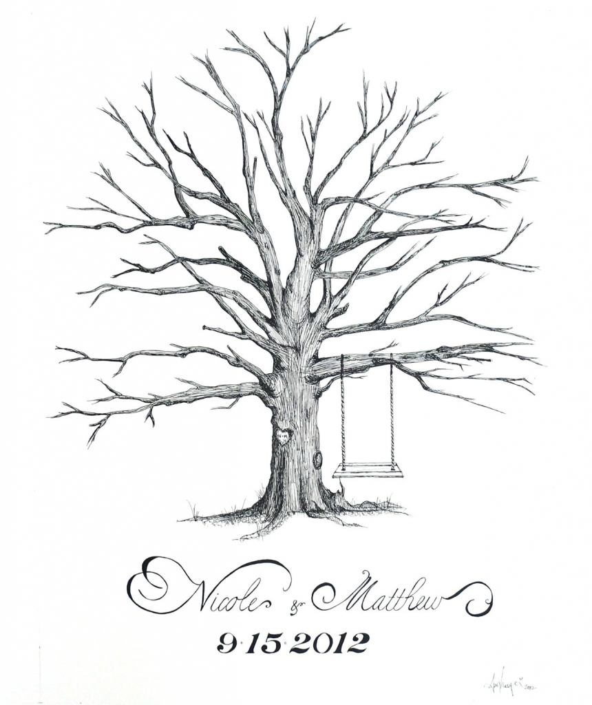 860x1024 Drawing Of A Tree