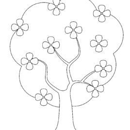 268x268 Magnolia Tree Coloring Page Magnolia Tree Flowers