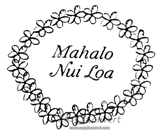 675x544 Stamp Mahalo Nui Loa Lei