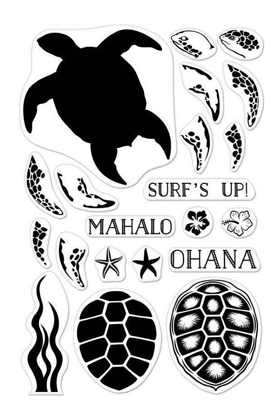 570x847 Color Layering Sea Turtle Stamp Set Surf's Up Mahalo Ohana