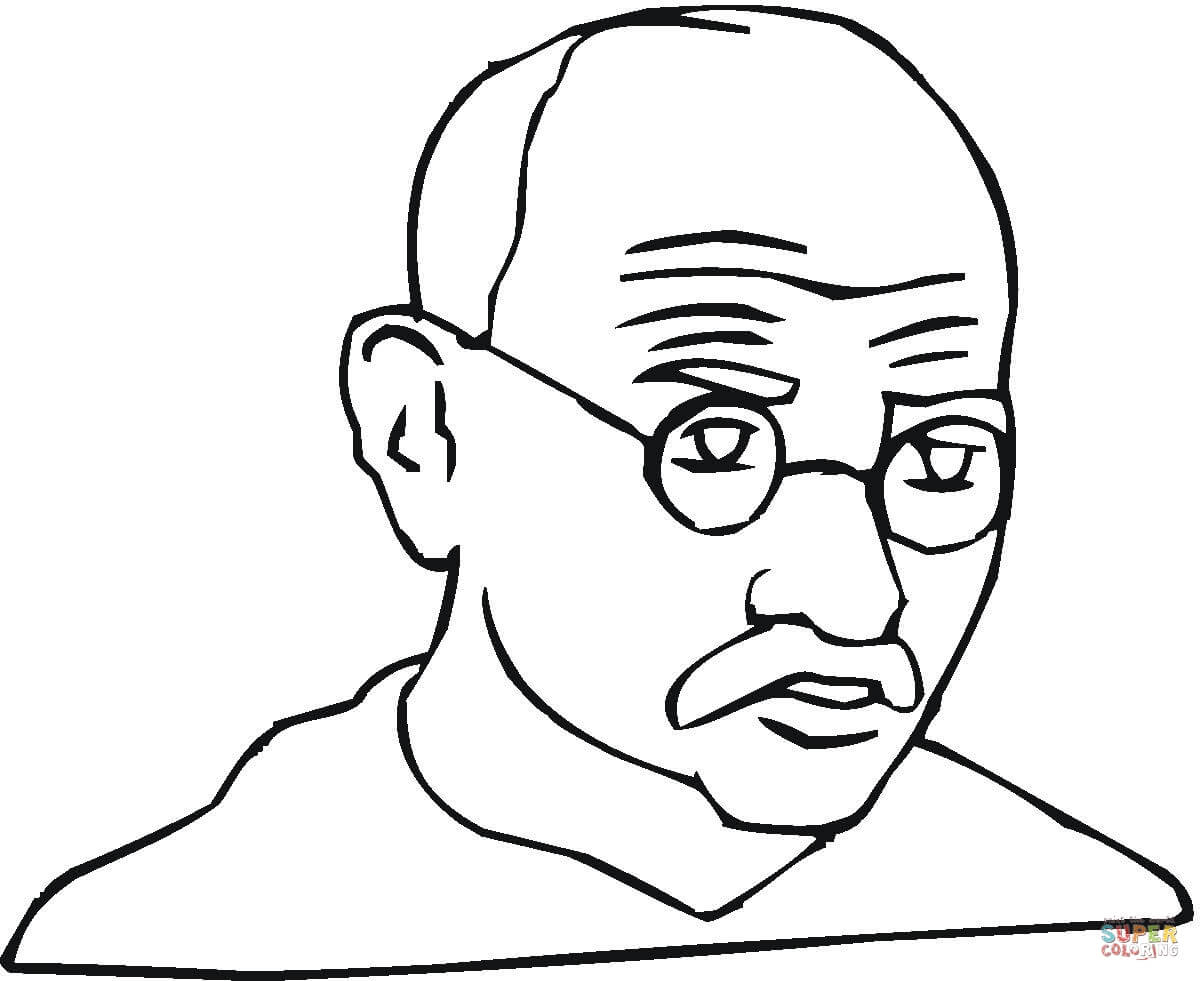 1200x981 How To Draw Mahatma Gandhi Face Easily