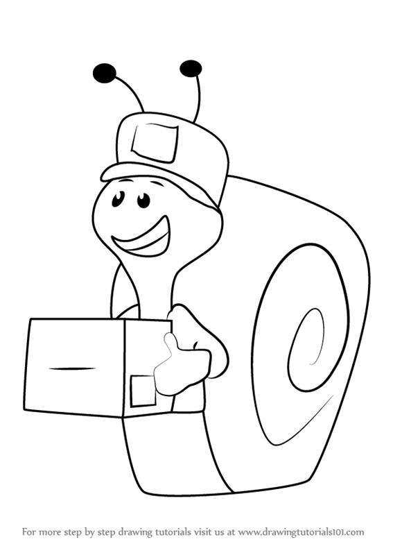 567x800 Learn How To Draw Mail Carrier Snail From Bubble Guppies (Bubble