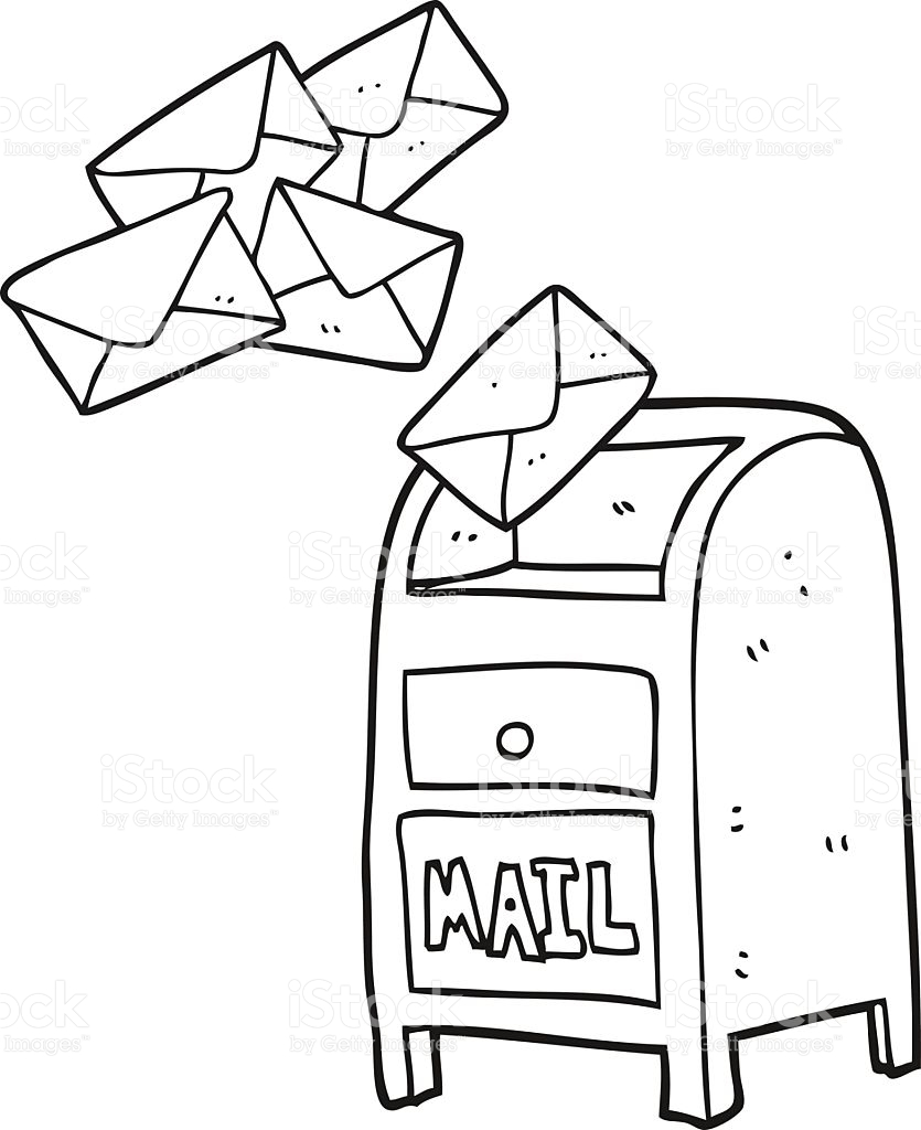 835x1024 Mail Clipart Black And White