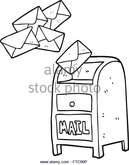 424x540 Postbox Drawing Black And White Stock Photos Amp Images