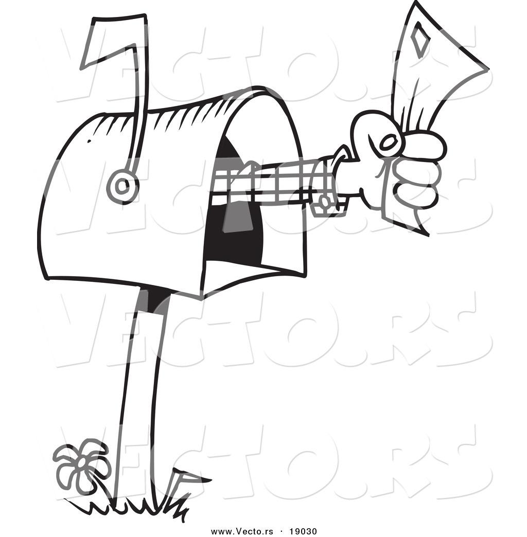 1024x1044 Vector Of A Cartoon Mailbox