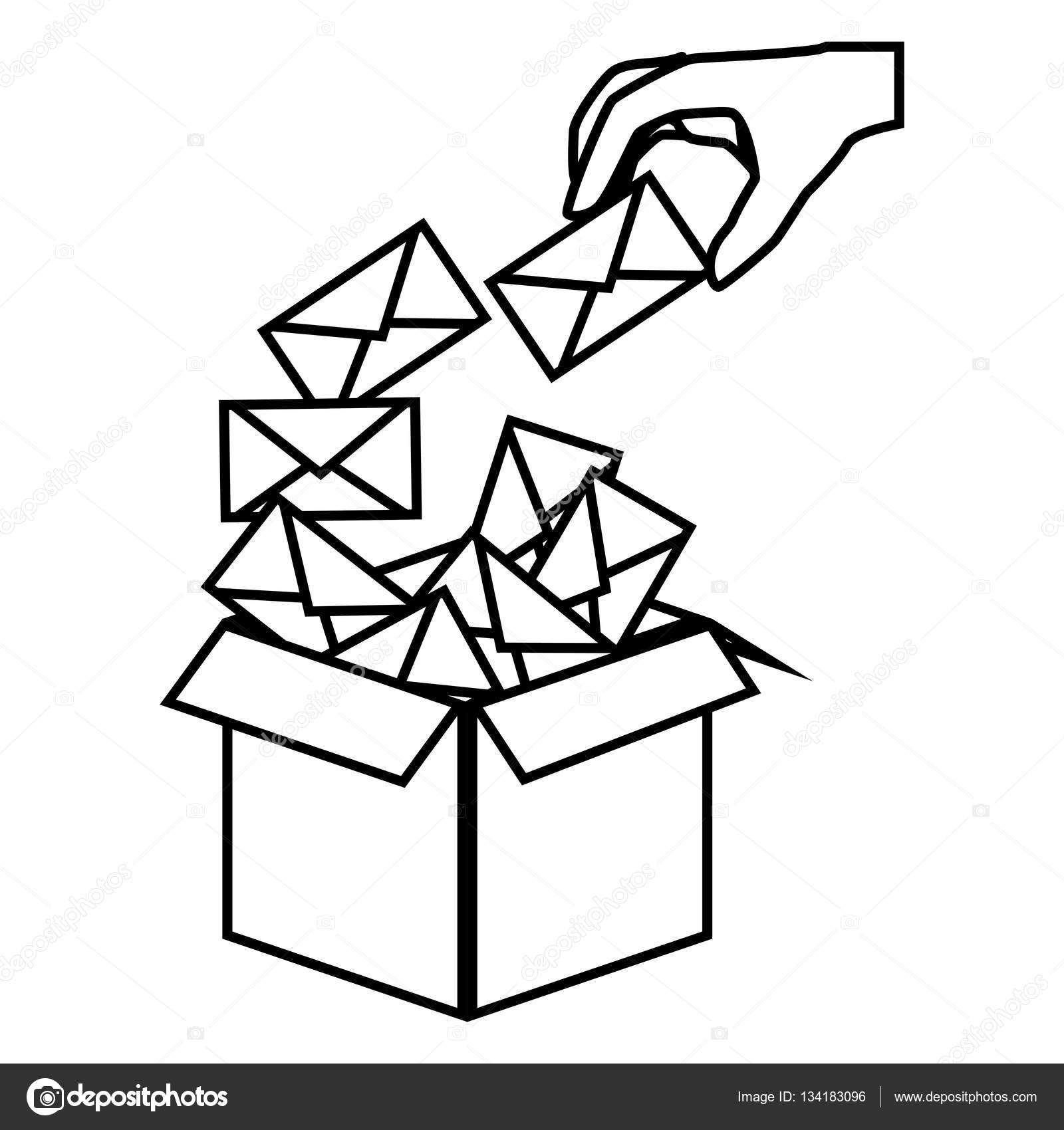 1600x1700 Envelopes Mail Isolated Icon Stock Vector Yupiramos