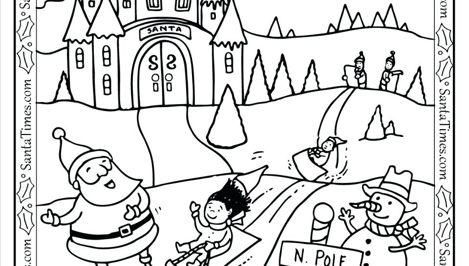 960x544 North Pole Coloring Pages Mail Coloring Pages Printable Mail Truck