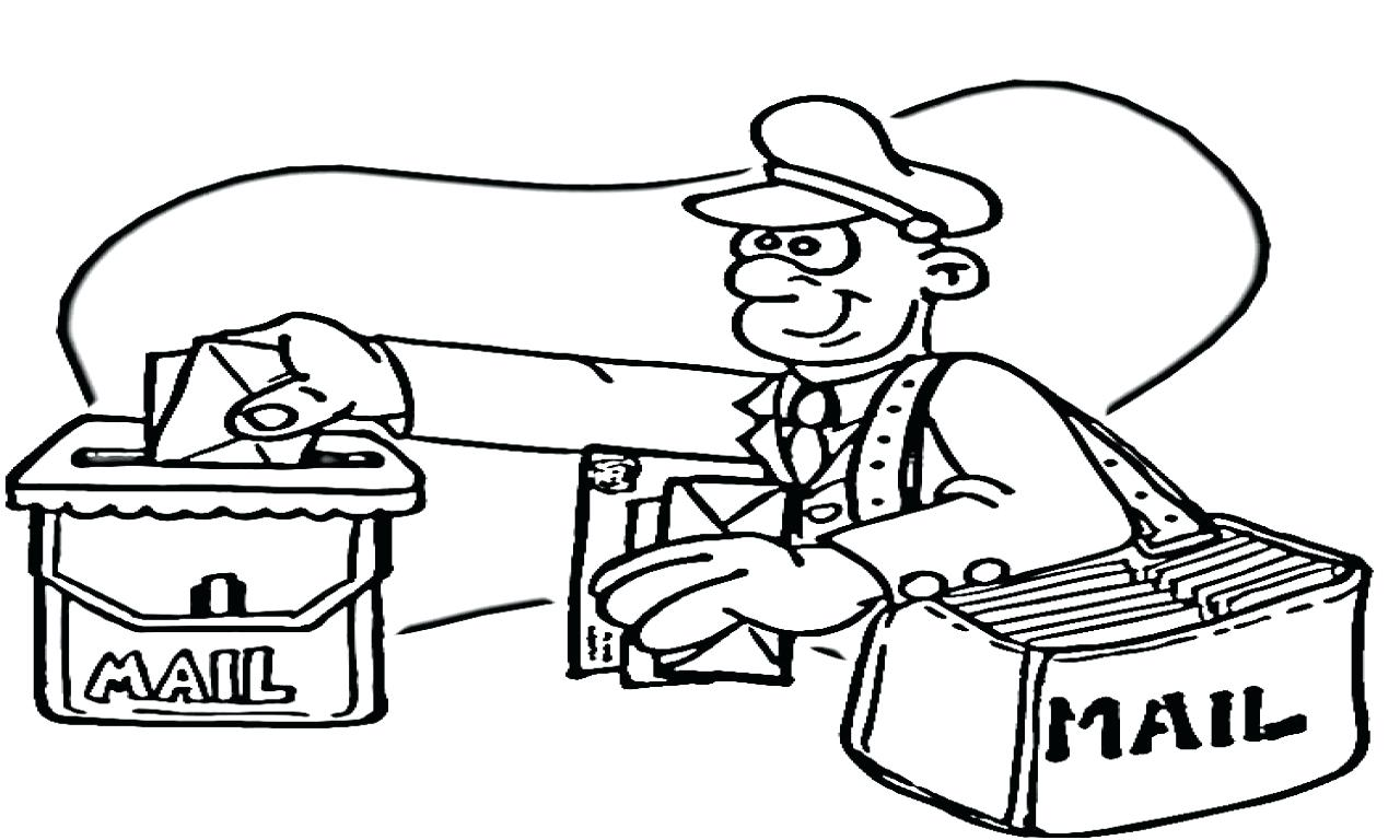 1280x768 Coloring Mail Carrier Coloring Page