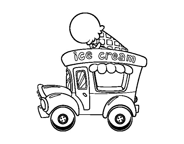 600x470 Ice Cream Food Truck Coloring Page
