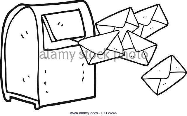 640x399 Postbox Drawing Black And White Stock Photos Amp Images