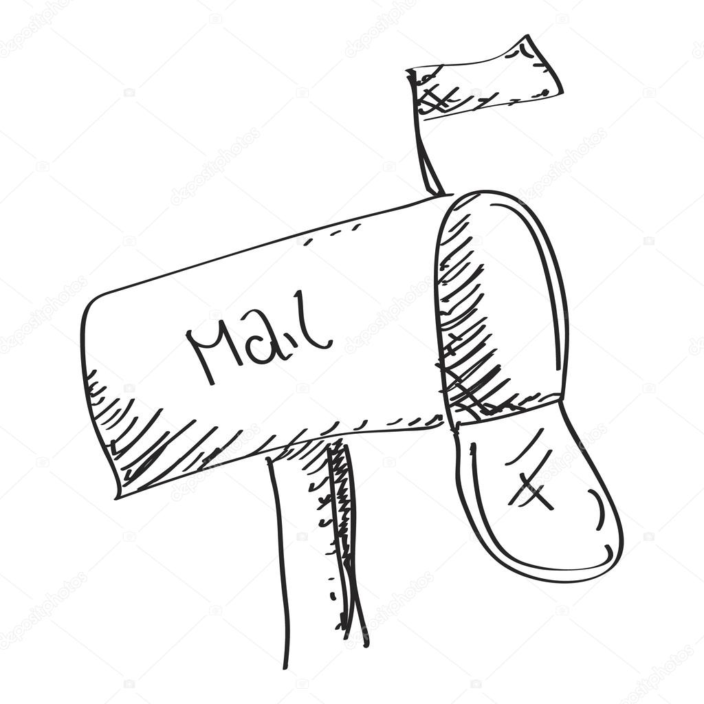 1024x1024 Simple Doodle Of A Mailbox Stock Vector Chrishall
