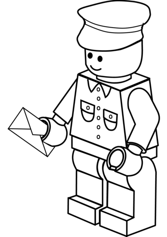 339x480 Lego Postman Coloring Page Free Printable Coloring Pages