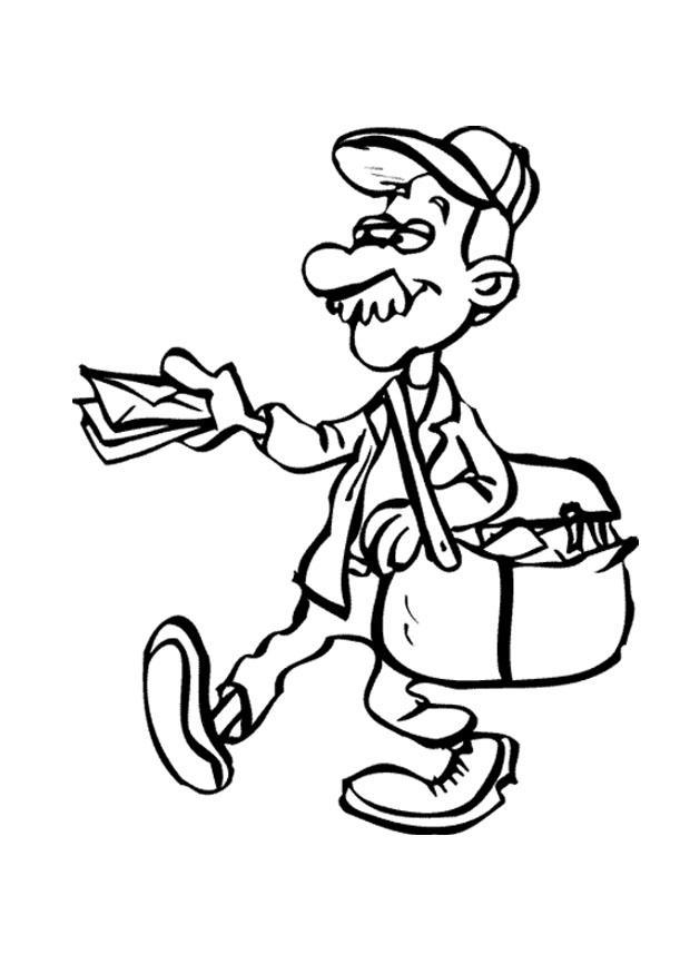 620x875 Letter Carrier Coloring Page Mail Panda