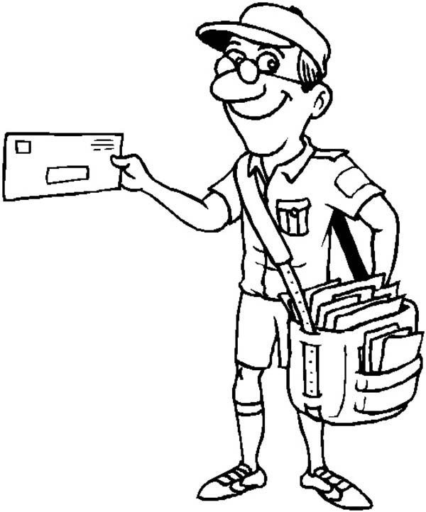600x722 Letter Carrier Coloring Pages Coloring Page For Kids