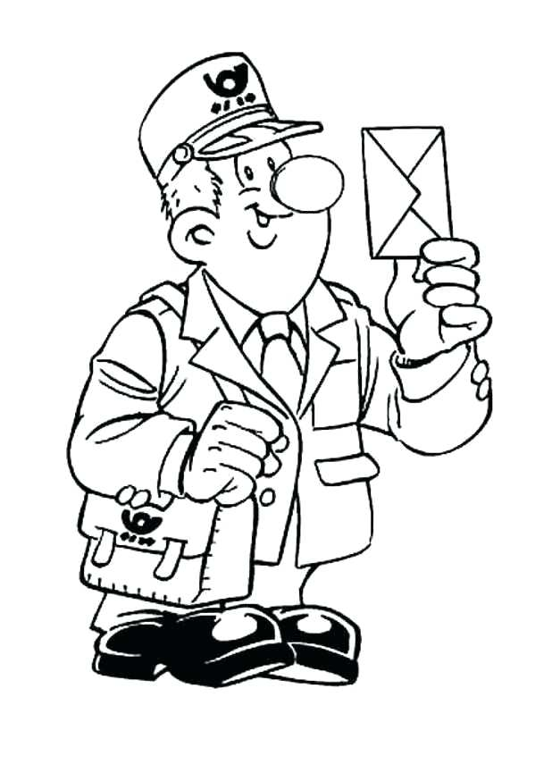 mailman coloring pages - photo#25