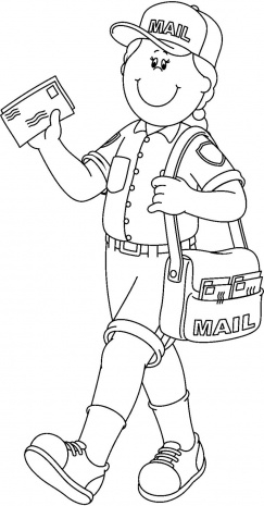 243x465 Mailman Coloring Pages Coloring Pages Ideas