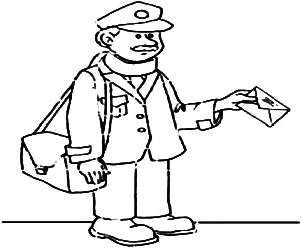 600x500 Mailman Deliver Mail On Jobs Coloring Pages Batch Coloring