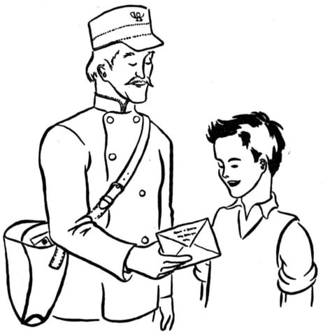 462x480 Mailman Coloring Page Free Printable Coloring Pages