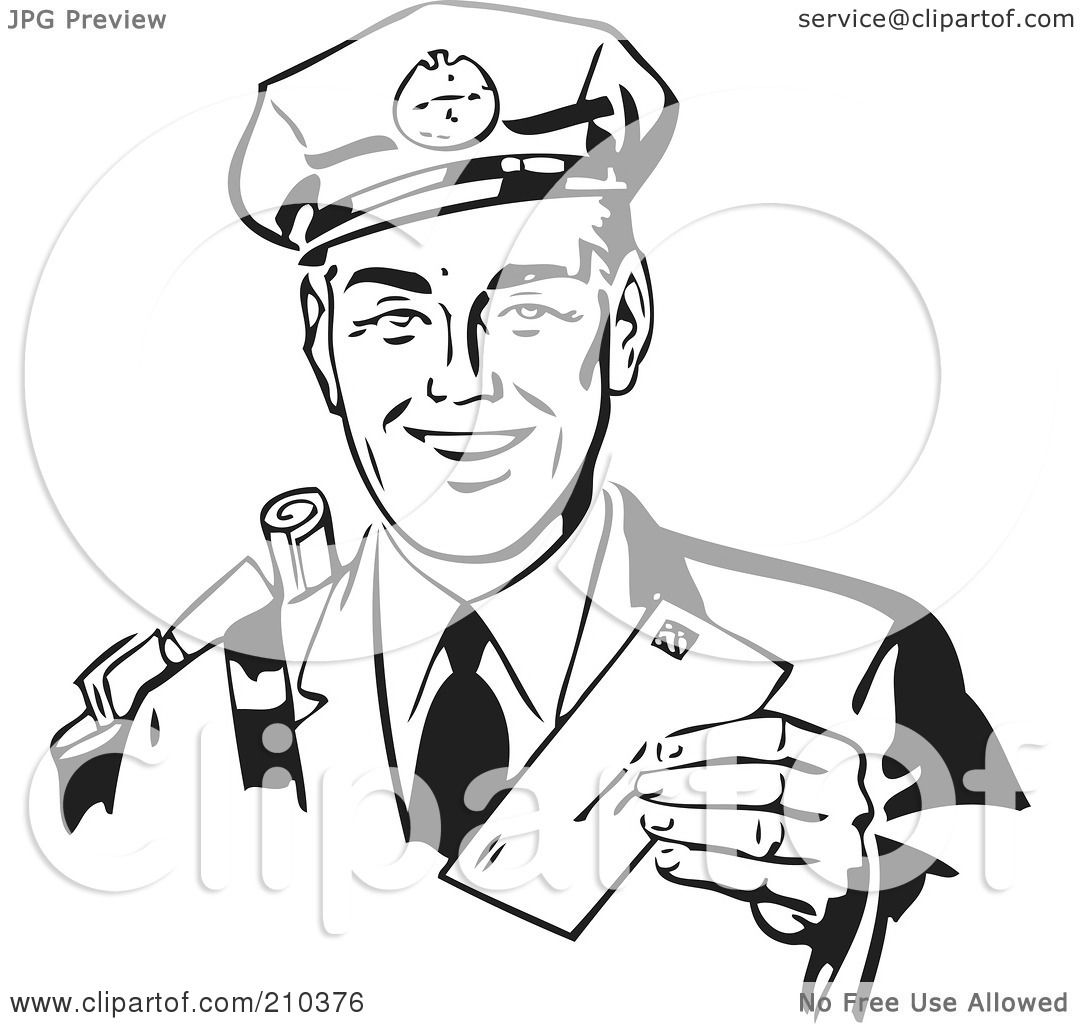 1080x1024 Royalty Free (Rf) Clipart Illustration Of A Retro Black And White