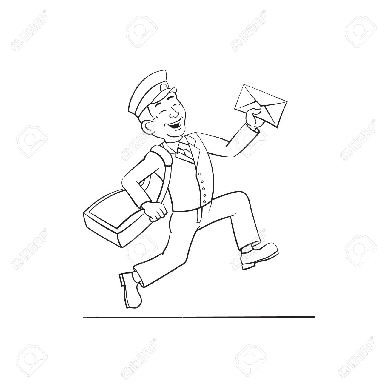 1300x1300 Funny Postman With Letter Royalty Free Cliparts, Vectors,
