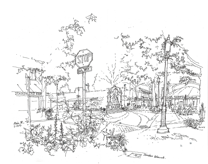 800x631 Urban Sketchers Seattle Edmonds Town Center