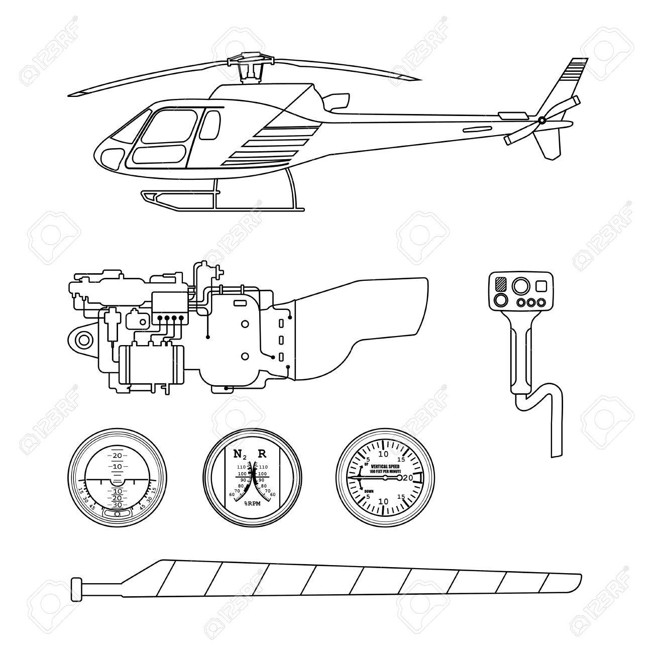 1300x1300 Repair And Maintenance The Helicopter. Set Parts
