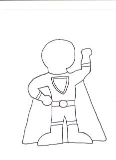 233x320 Super Hero Template For Designing Your Very Own