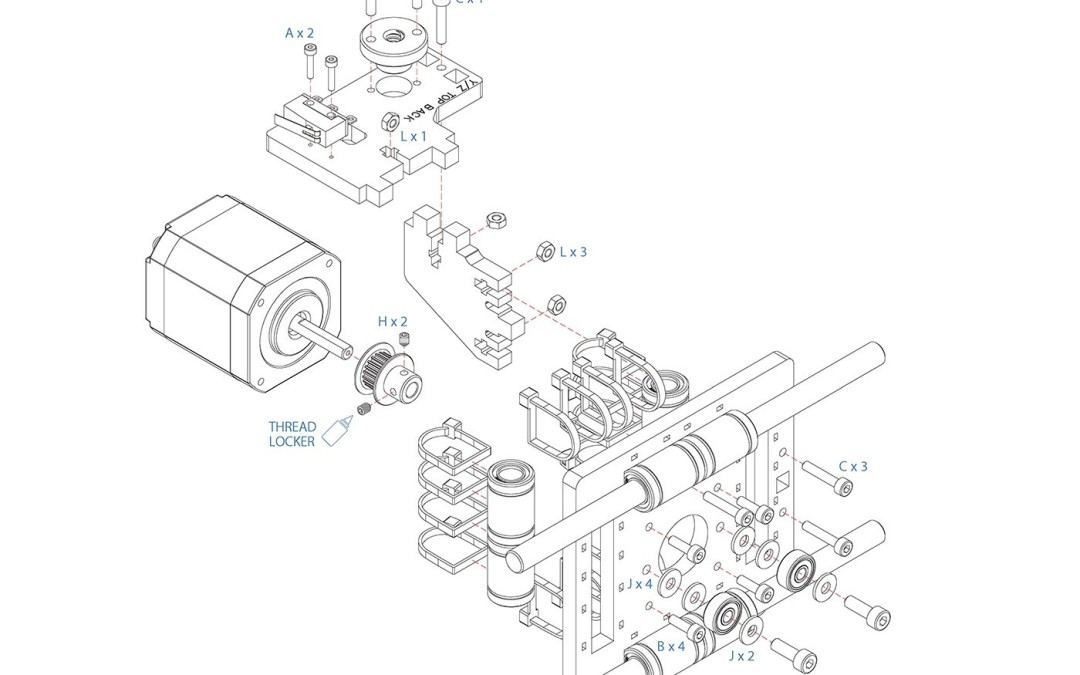 1080x675 Assembly Drawings For The Simple Maker's Edition (Model 1405