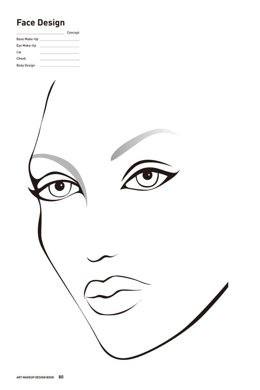 Makeup Art Drawing At Getdrawings Com