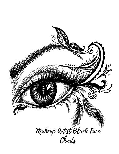 386x500 Makeup Artist Blank Face Charts Female Faces Large Notebook