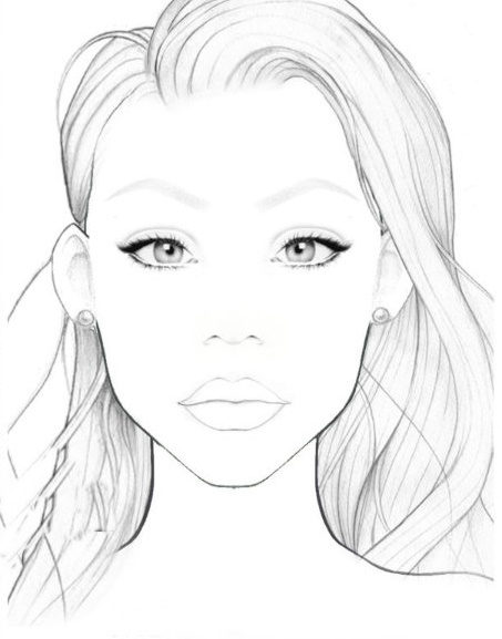453x577 Blank Face Chart Make Up, Hair And All Things Beautiful
